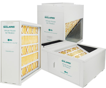 Solaris® Whole House Filtration for HVAC - cabinet options