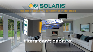 Solaris® removes indoor air pollution filters can't capture