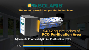 Solaris® uses 249.7 square inches of PCO purification