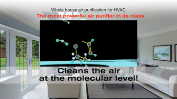 Cleans the air at the molecular level!