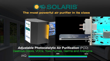 Solaris® uses adjustable photocatalytic air purification (PCO)