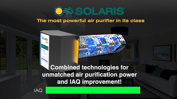 Solaris® combined technologies for unmatched air purification power and IAQ improvement