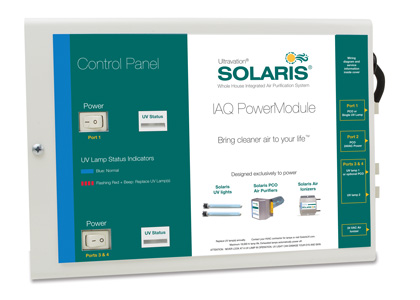 Solaris® IAQ PowerModule - control panel with status indicators